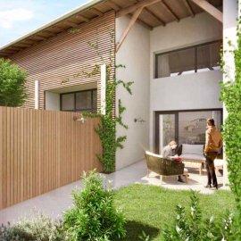 Duplex de 75 avec jardin de 22 m2 et parking, 2 chambres, Bordeaux Gustave Eiffel