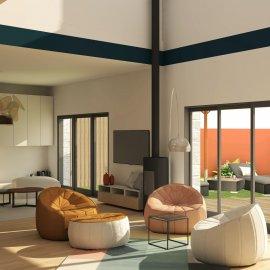 Le Bouscat, rénovation totale, maison de ville 210 m2, jardin, garage double, piscine chauffée, 5 chambres